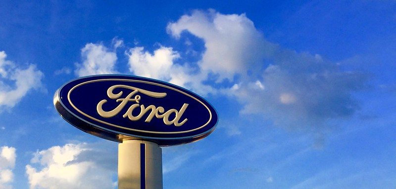 Ford Dealership sign from a Ford dealer lot