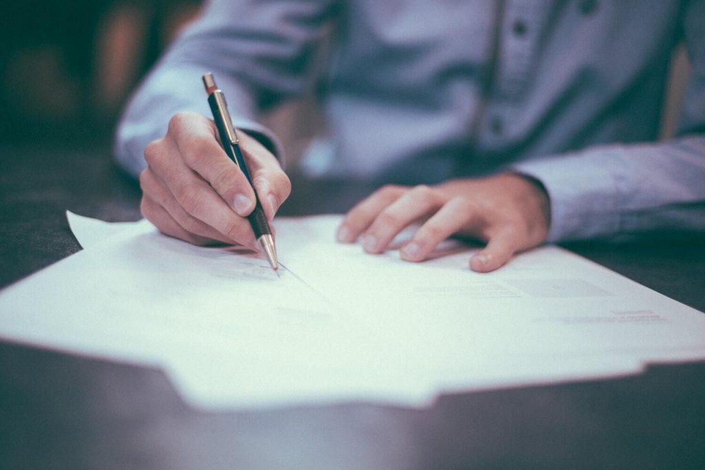 sign paperwork