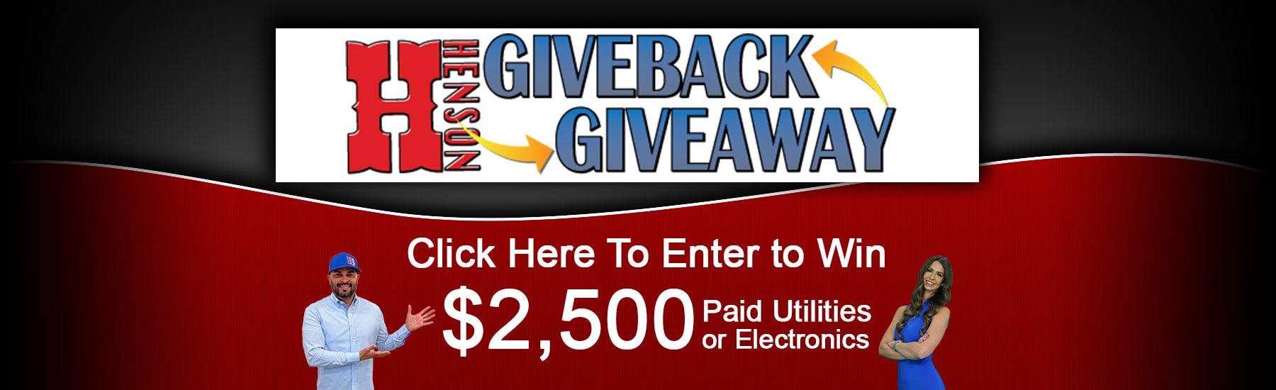 Henson Brand - 2.5K Giveback Giveaway