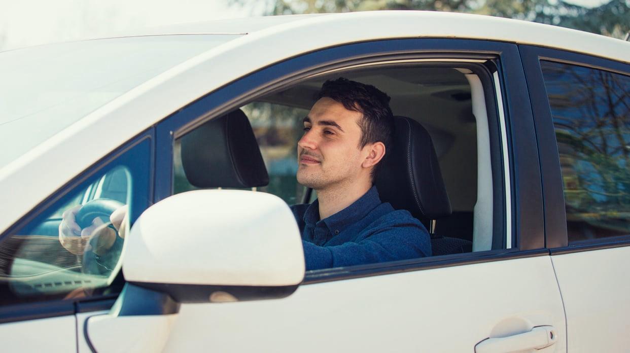 Car with door open